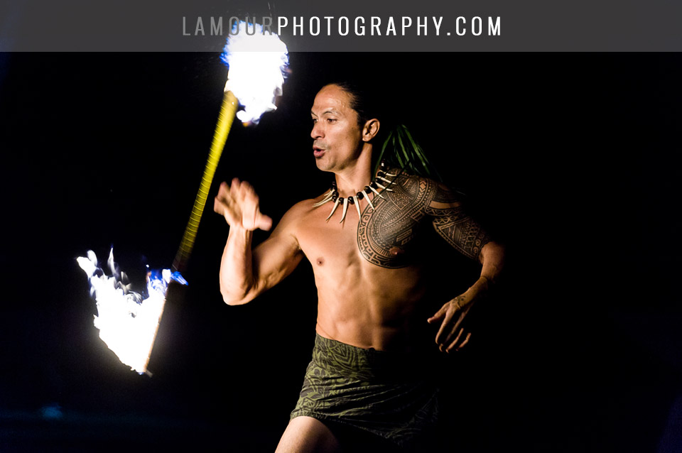 fire dancer for destination hawaii wedding
