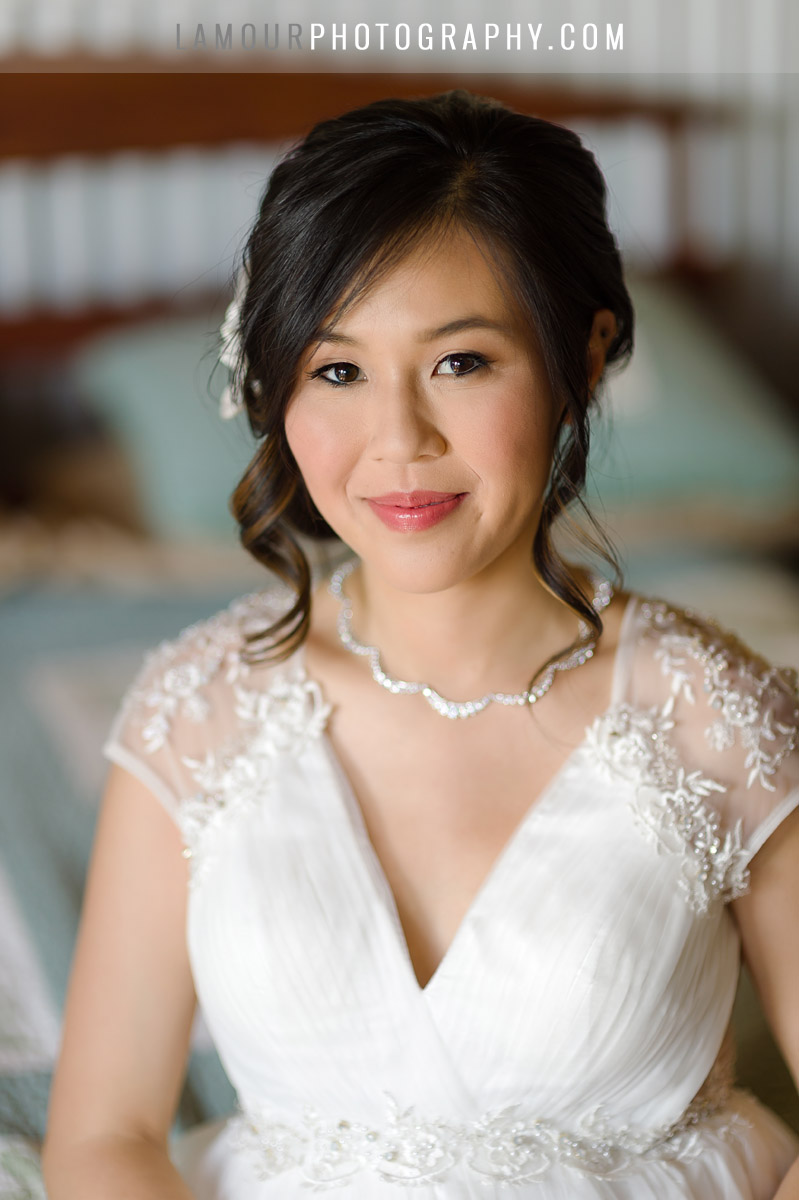 gorgeous bride in maui after hawaii makeup and hair styling