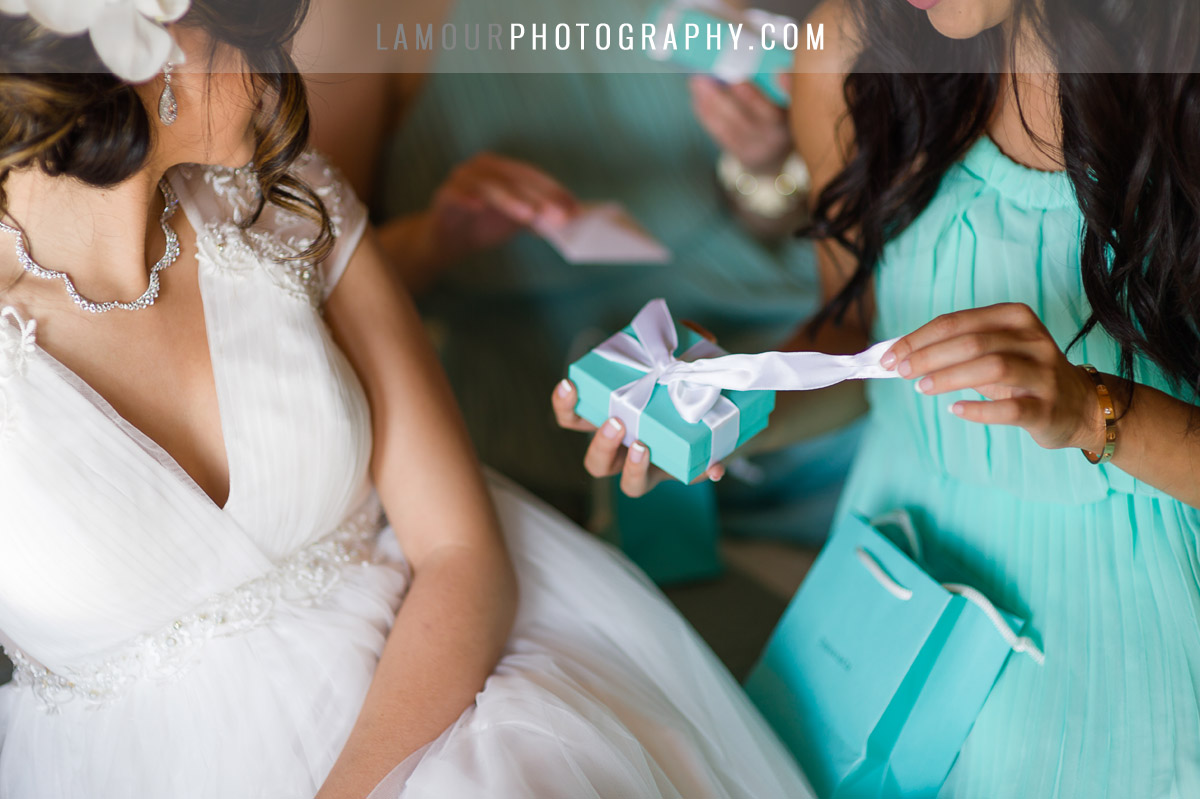Something blue in tiffany box for wedding in hawaii