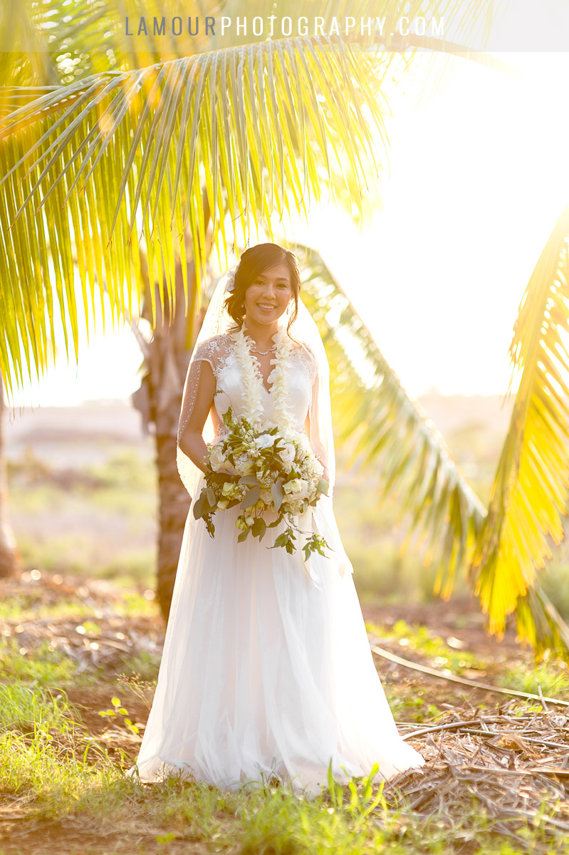 sunset wedding photography and video in hawaii wedding