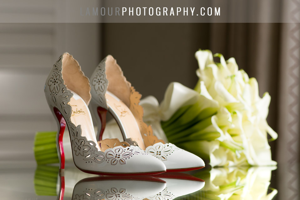 White Wedding Shoes Louboutin With Lace Cutouts