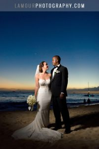 sunset wedding photographers in hawaii on oahu