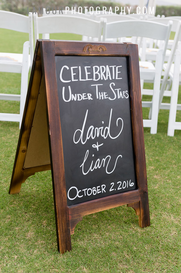 chalkboard wedding ceremony sign for maui wedding