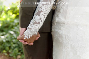 lovely lace wedding dress with long sleeves for wedding in Hawaii on Oahu
