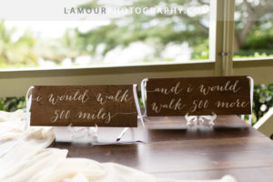 Cute personalized wood signs with calligraphy