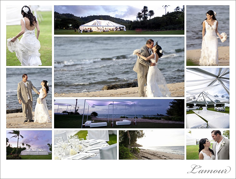 Leslie Mansperger photographers of private estate wedding northshore oahu at loulu palm