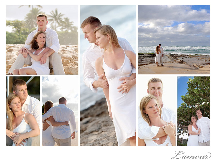 Oahu Engagement Portraits at Sunset Beach on Northshore by photographers from Leslie Mansperger Photography