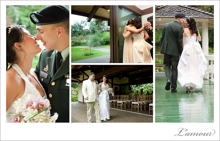 Hawaii Wedding Photography at Haiku Gardens Gazebo and Chapel on Oahu Hawaii