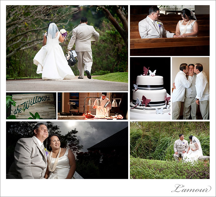 Kamehameha School Chapel Bernice Puahi and Willows Restaurant wedding ceremony and reception