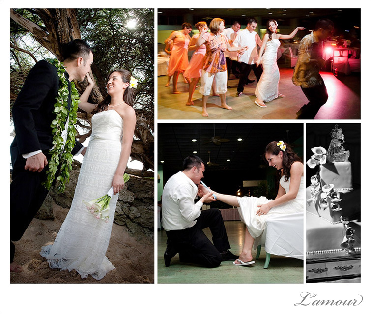 Hickam Airforce Base Officer's Club Wedding Reception Photography in Hawaii by L'amour