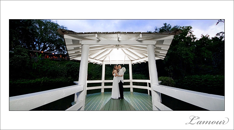 Night time Gazebo wedding photo by L'amour Photography in Hawaii
