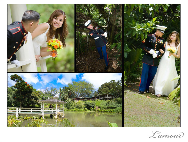 Hawaii Garden Wedding Photography by husband and wife team L'amour