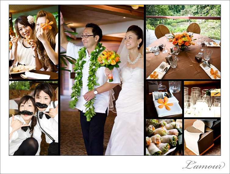 Japanese destination wedding photography by L'amour in Oahu Hawaii