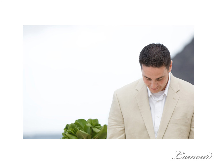 Groom in Destination Beach Wedding attire in a tan suit