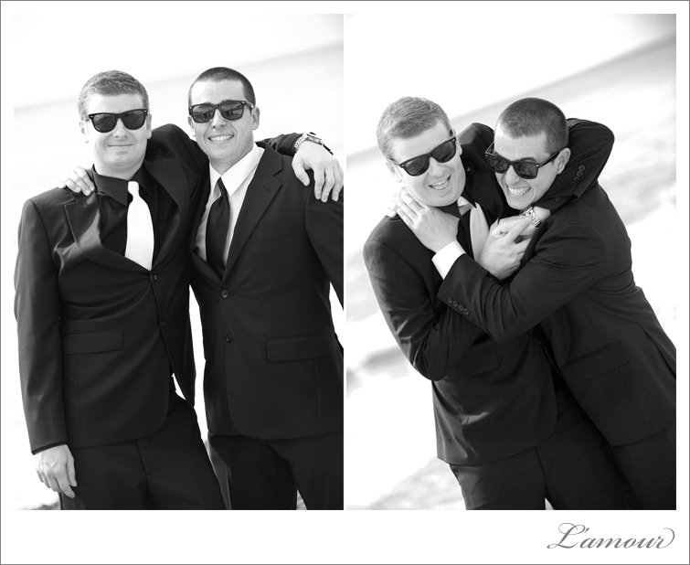 Groom and best man at the Ihilani resort in Koolina Hawaii photographed by L'Amour