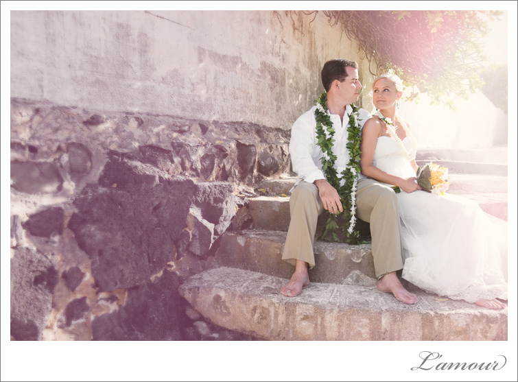 Destination Beach wedding ceremony at Kailua Lanikai in Oahu