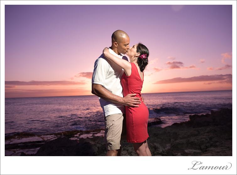 Hawaii Wedding Photographer sunset portriats at the Ihilani Resort on Oahu
