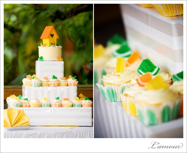 Citrus Wedding Theme with yellow orange and green color scheme