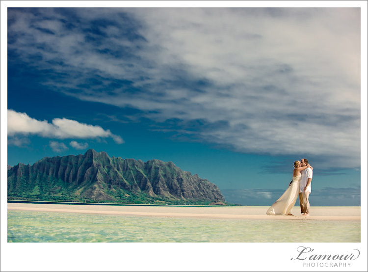 Trash the Dress Photos taken by Hawaii Wedding Photographer L'Amour Photography