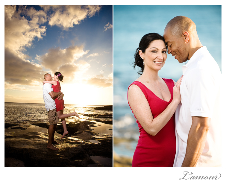 Hawaii Engagement Photographer portraits in Oahu