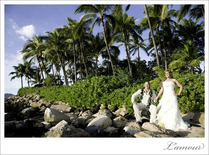 Ihilani Wedding Photographer at JW Marriot in Oahu Hawaii