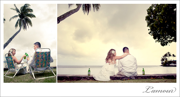 Oahu Wedding Photographers in Hawaii of Lamour Photography