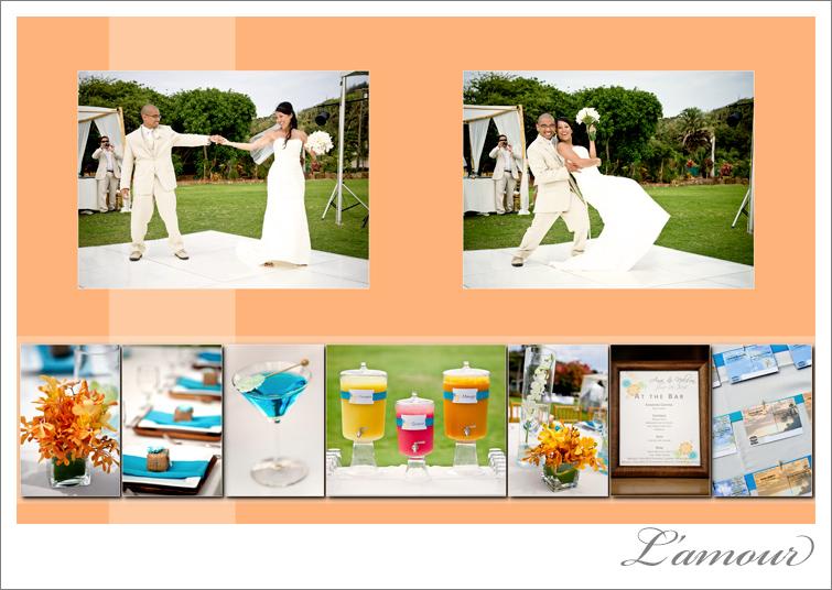 Oahu Wedding Photography Orange and Blue wedding