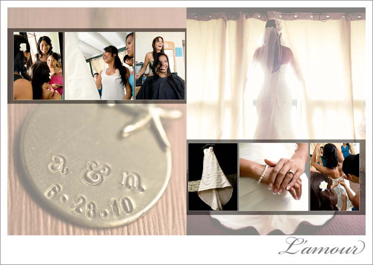 Hawaii Wedding Photographer Album Design