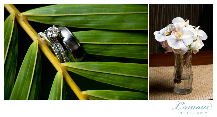Hawaii Wedding Photographers of Lamour's Wedding Detail photos