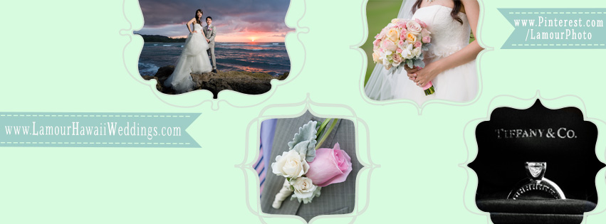 Lamour Hawaii wedding photography's custom facebook cover photo