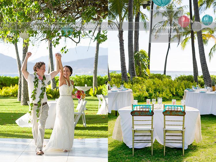 Hawaii wedding recption venue Lanikuhonua Wedding