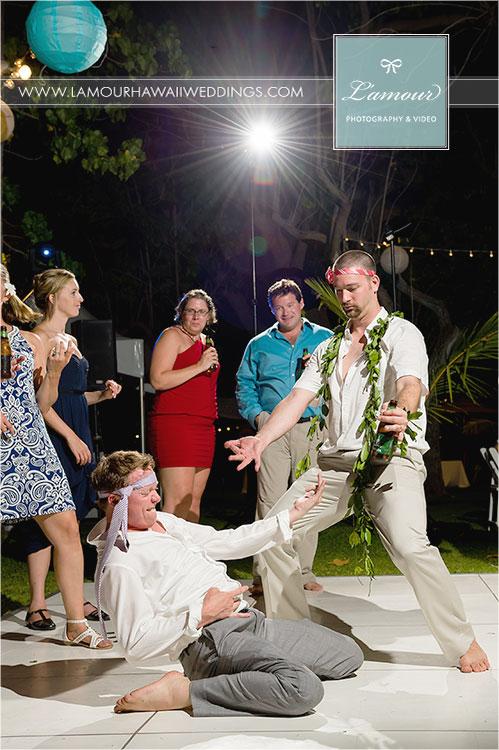 Hawaii Wedding reception dancing
