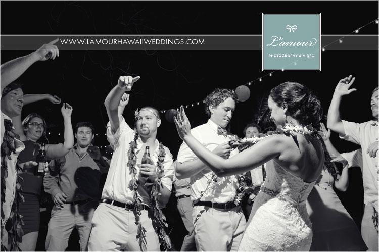 Oahu Wedding reception at Lanikuhonua