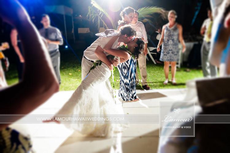 Lanikuhonua Wedding reception photos by Lamour