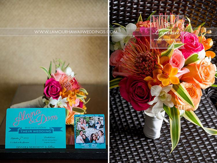 Wedding bouquet in Hawaii