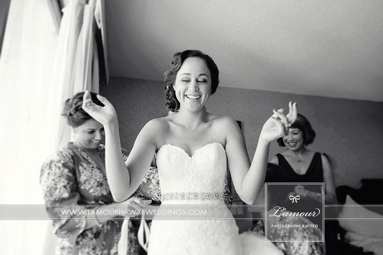 wedding in Hawaii photos of bride