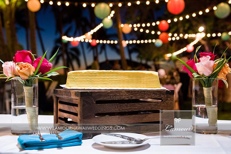 Wedding cake Hawaii photo