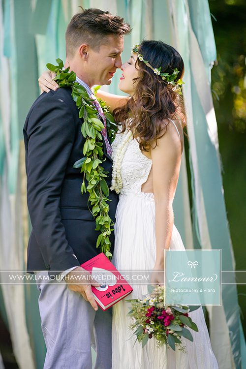 hawaii wedding photos from Lamour Photography at Bayer Estate ceremony