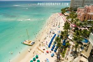 Waikiki beach view from a Hawaii Wedding in Waikiki