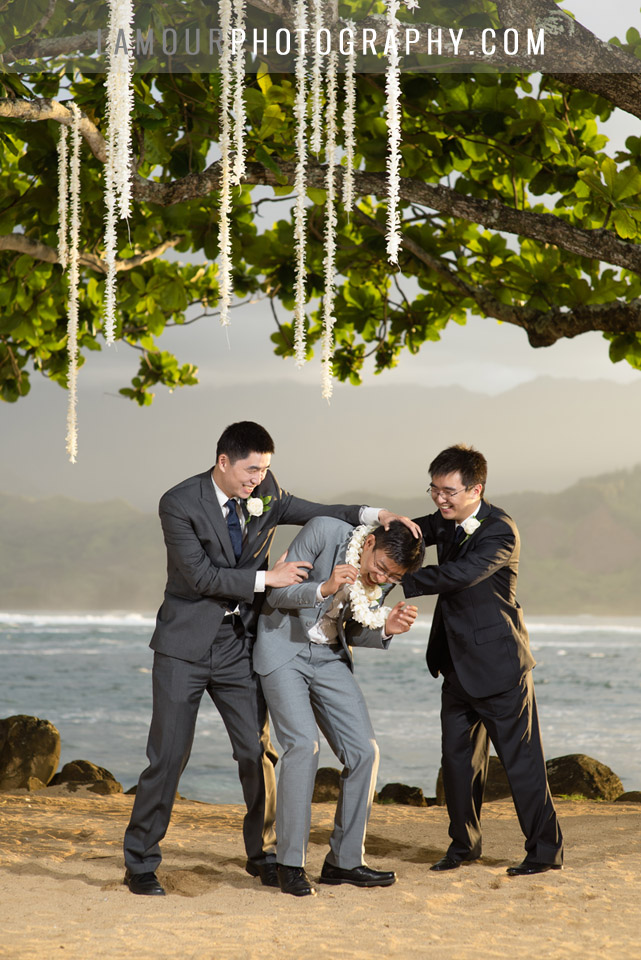 Hawaii Wedding photos at the St Regis Princeville in Kauai by L'Amour Photography and Video