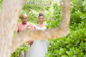 Oahu wedding photo of ceremony at venue Turtle Bay Resort