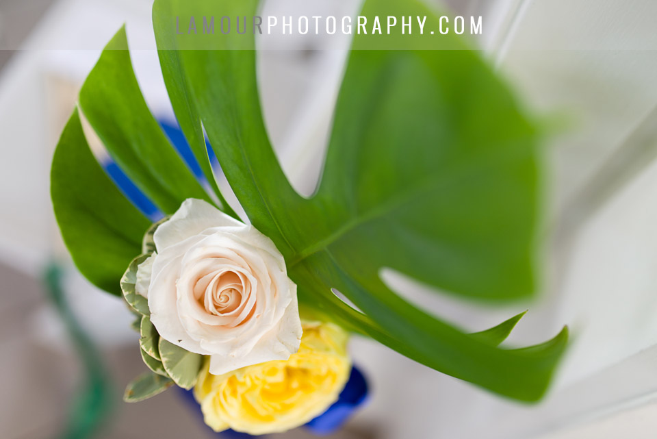 tropical wedding flowers for destination wedding on oahu