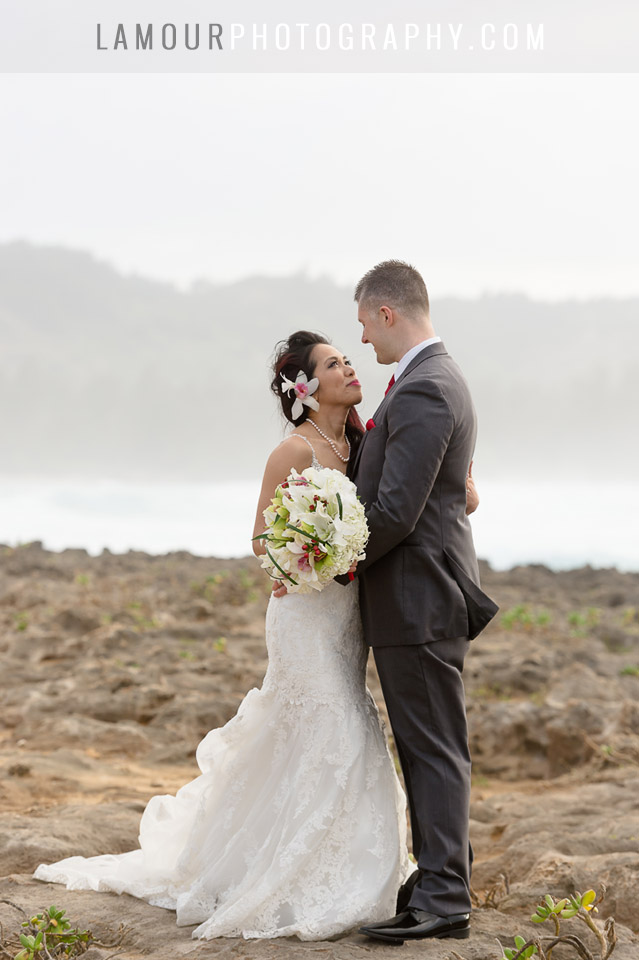 beach wedding on oahu at turtle bay resort
