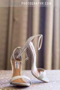 Jimmy choo wedding shoes at hawaii wedding