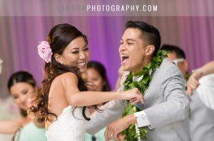 pastel color wedding scheme at hawaii wedding