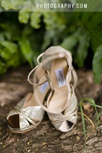 gold wedding shoes by jimmy choo in hawaii
