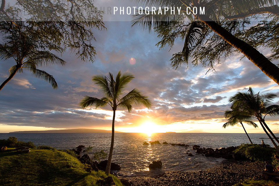 Best wedding sunset on Maui
