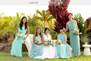 Mint green themed hawaii destination wedding