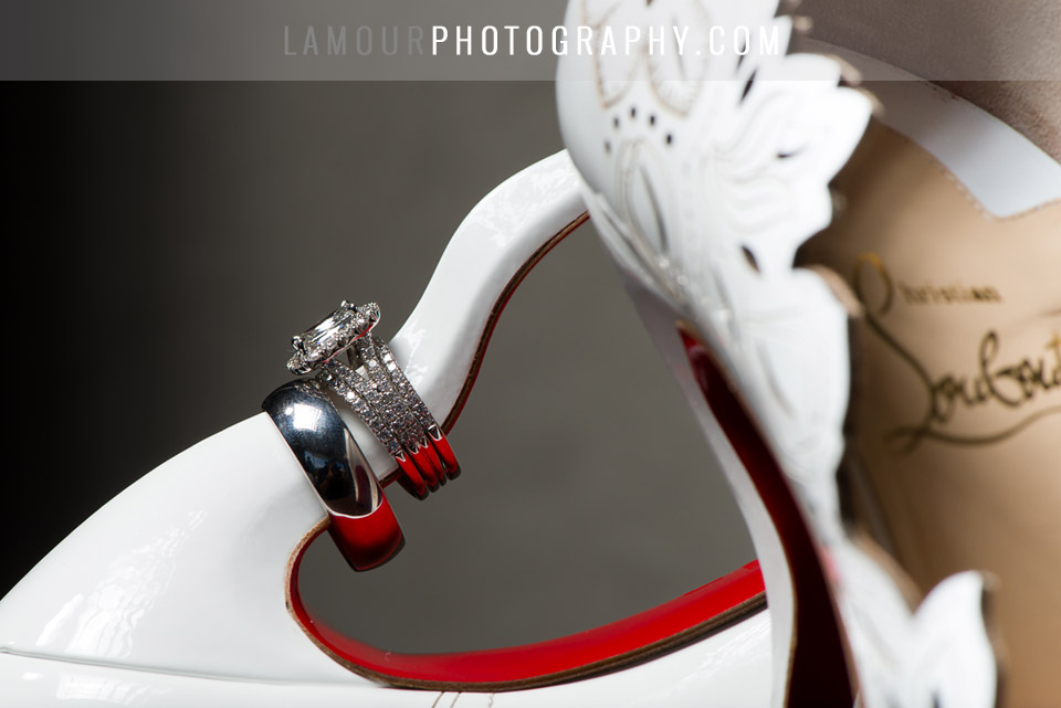 louboutin wedding shoes in white with lazer cut outs