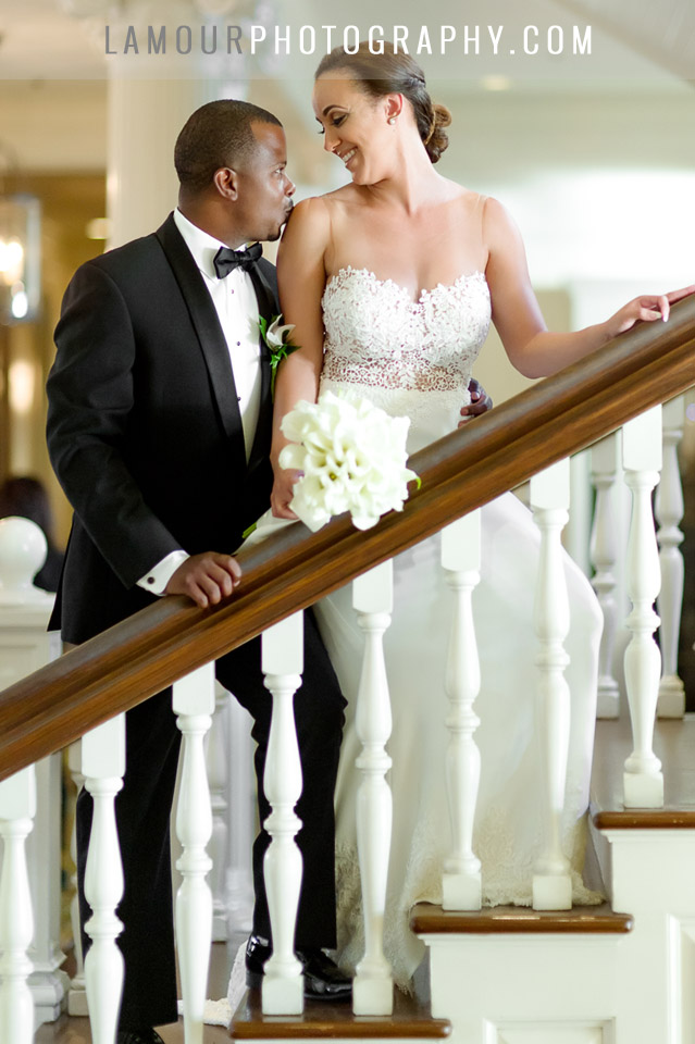 Lace sheath wedding dress on destination bride in Waikiki